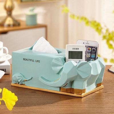 Нордическая Смола слон коробка для салфеток ретро гостиная многофункциональный ящик для хранения пультов дистанционного управления домашнее бумажное полотенце домашний декор - Цвет: E