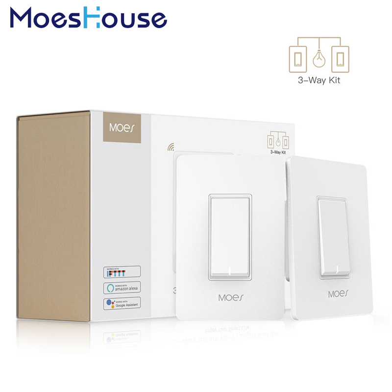 3 Way WiFi Smart Light Switch Light Fan Control APP Remote Control Works With Alexa And Google Home No Hub Required
