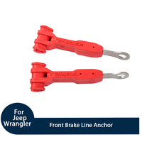 Fit For Jeep Wrangler 2007+ Car Front Brake Line Anchor Decoration Accessories ABS Black/Red Auto Styling