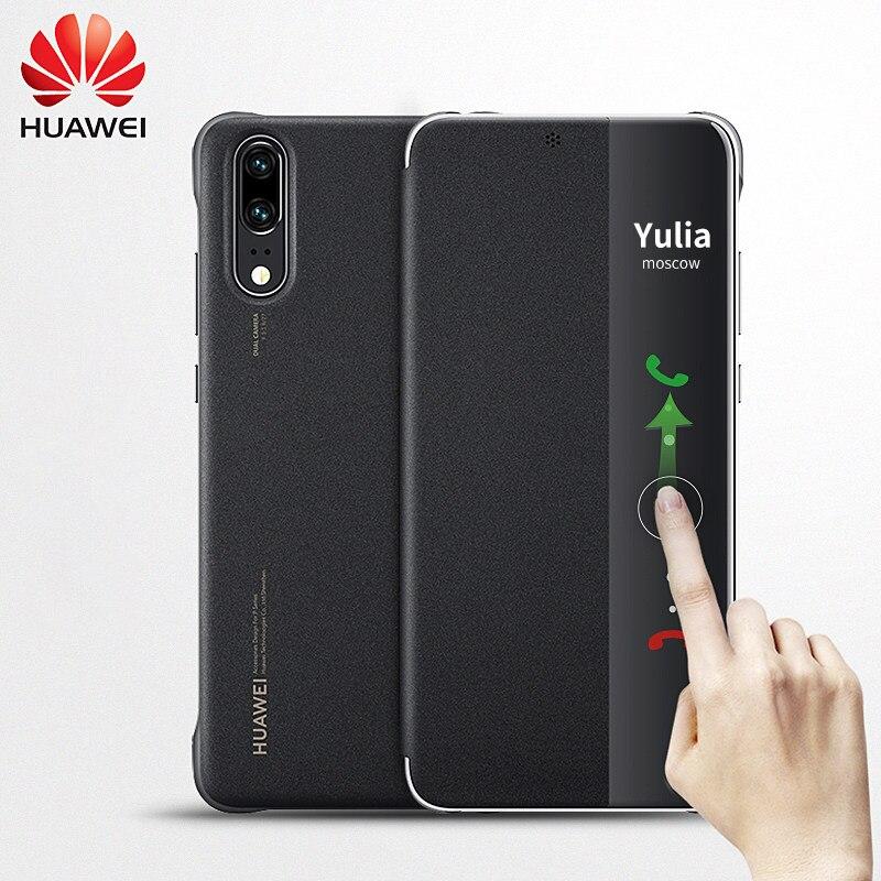 Coque d'origine Huawei P20 Pro coque Huawei P20 silicone smart cover magnétique luxe flip cuir 360 antichoc P 20 P20PRO coque