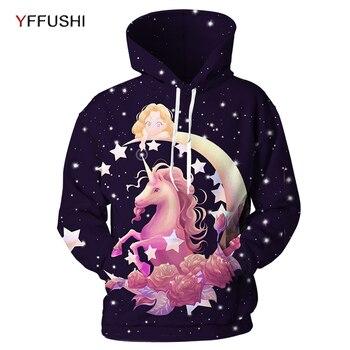 YFUSHI 2018 New Unicon Printed Men Hoodies Fashion Male Female 3D Printed Hooded Sweatshirts Pullovers Autumn Streatwears