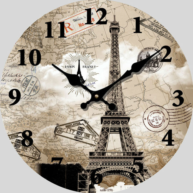 Europe stylish paris eiffel tower wall clock world map vintage europe stylish paris eiffel tower wall clock world map vintage wooden wall clocks living room 14 gumiabroncs Images