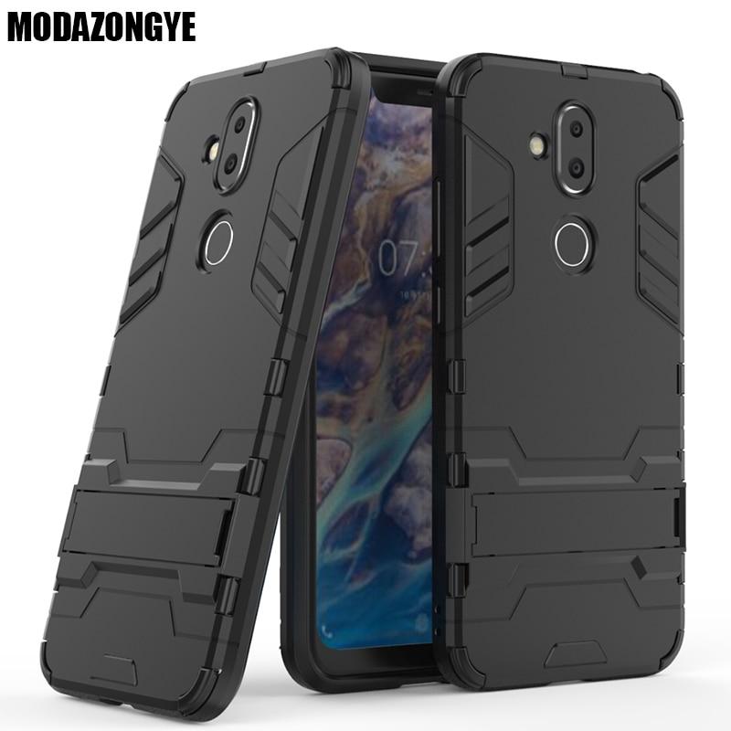 Nokia 8.1 Case Nokia 8.1 2018 Case Hybrid Silicone + TPU Back Cover Phone Case Nokia 8.1 TA-1119 TA-1128 Phoenix Nokia8.1 Case
