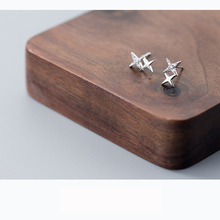 Star Shaped 925 Sterling Silver Stud Earrings