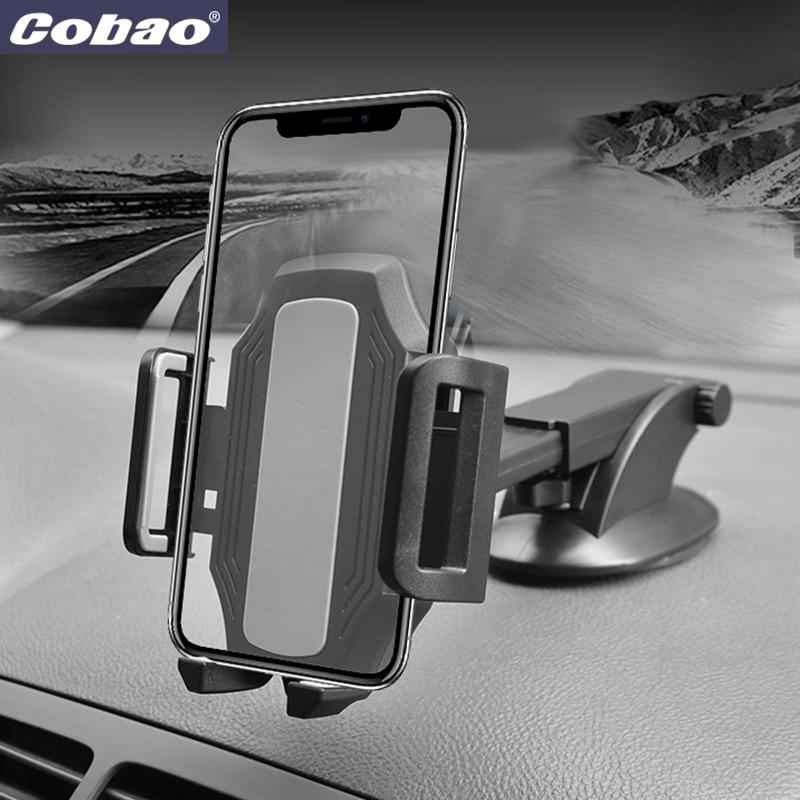 Cobao Universal Auto Telefon Halter 360 Einstellbare Windschutzscheibe Versenkbare Auto Handy Halter Für iPhone Samsung Telefon Montieren