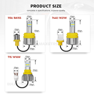 Image 5 - 2x T15 LED 1156 BA15S 7440 W21W 3030 Bulb W16W Led Reverse Lamp Light Canbus 921 912 Automobiles Backup Turn Signal Light Lamp