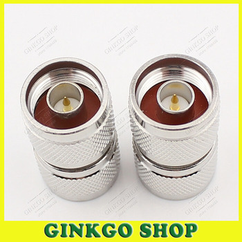 50pcs/lot NJ-NJ Double Male Connector 1 to 2 of Male N-type Male Straight Connector