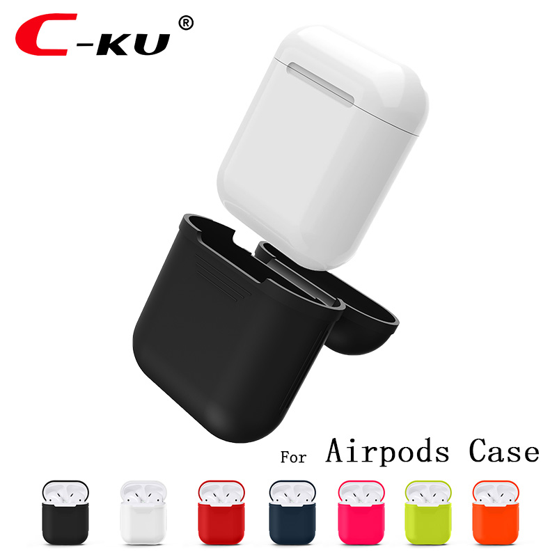 C KU for Apple Airpods Charger Case Soft Silicone Air Pods
