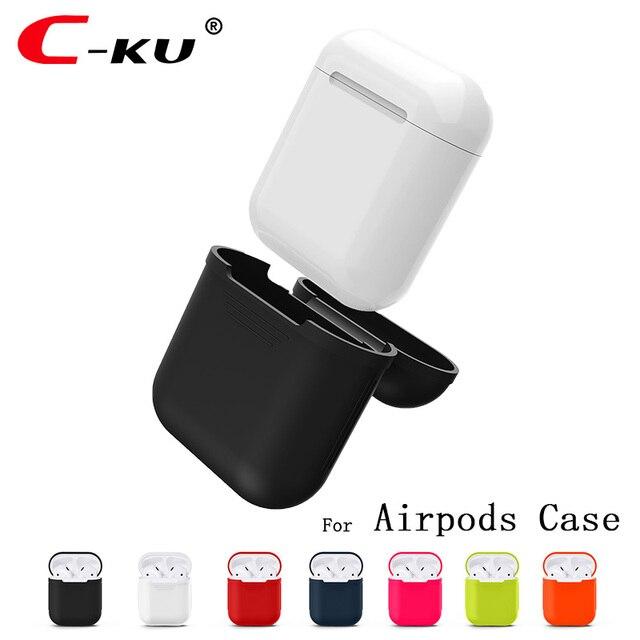 C-KU para Apple Cargador Airpods Caso Suave de Silicona Caso Cubierta Impermeable para el iphone 7 Accesorios Airpods Aire Vainas de Carga Cubierta