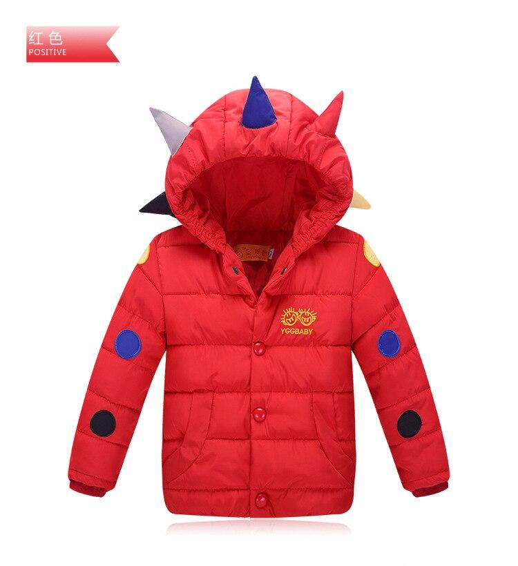 ФОТО 2016 new winter jacket children, boys and girls / Tyrannosaurus dinosaur hooded down jacket Kids / Boys Down Jacket4-10y