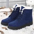 Botas de neve de inverno tornozelo botas de saltos sapatas das mulheres plus size sapatos 2016 sapatos da moda botas de inverno sapatos da moda