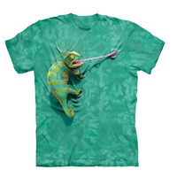 Cool T Shirt Men Or Women 3d Tshirt Print Hot Funny Climbing Chameleon Short Sleeve Summer