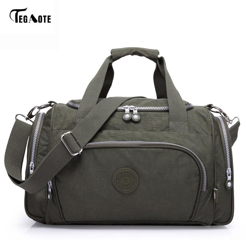 TEGAOTE Men's Travel Bag Zipper Luggage Travel Duffle