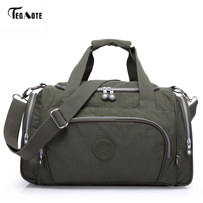 TEGAOTE Men's Travel Bag Zipper Luggage Travel Duffle Bag 2017 Latest Style Large Capacity Male Female Portable Travel Tote