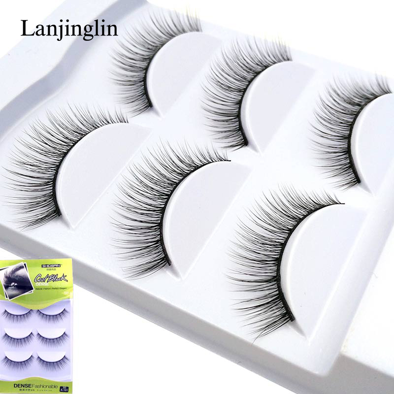 LANJINGLIN 3 Pairs False Eyelashes Strip Mink Eyelashes 3d Mink Lashes Natural Makeup Eyelash Extension Fake Eye Lash  #A-101