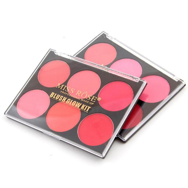 6 Color Blusher Makeup Palette Glow Kit Blush Pigment Powder Palette Charming Cheek Color Make Up Face Blush
