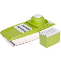 Vegetable Cutter Box Adjustable Mandoline Slicer With 4 Interchangeable Stainless Steel Blades Peeler Slicer Grater BOX