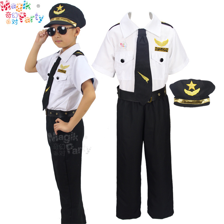 2016 New Cool Pilot Costume for Boys Party Carnival ...