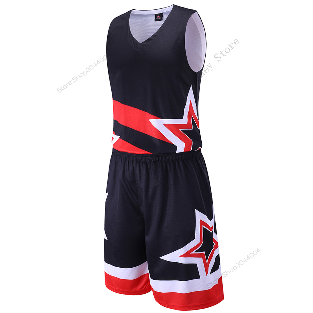 072914614 Adsmoney 3 Colors Men s Exquisite star pattern jersey Set all star usa  training basketball jersey suit Breathable Sports Kits-in Basketball Jerseys  from ...