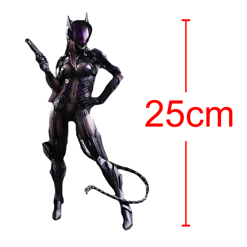 C&F Catwoman Action Figure Toys Anti-Hero Batman The Cat Selina Kyle Colorful PVC Model Collectible Garage Kits Toys фигурка planet of the apes action figure classic gorilla soldier 2 pack 18 см