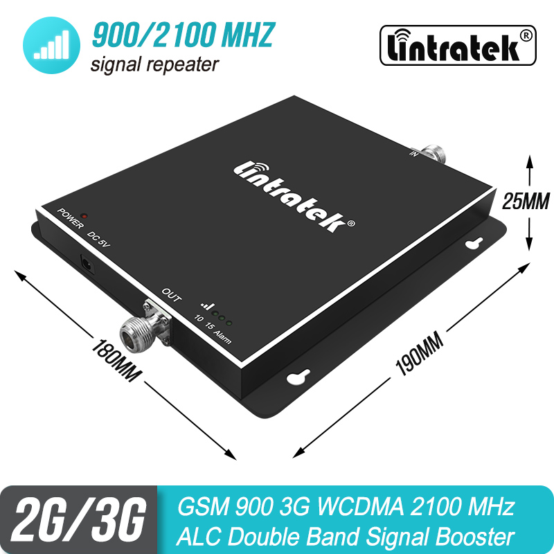 Lintratek GSM 3G 900 2100 MHz Mobile Signal Booster 2G 900mhz WCDMA 2100mhz Double Band Cellular Repeater ALC Amplifier S7Lintratek GSM 3G 900 2100 MHz Mobile Signal Booster 2G 900mhz WCDMA 2100mhz Double Band Cellular Repeater ALC Amplifier S7