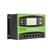 ALLMEJORES 30A DC 12V/24V Auto Solar Charger controller Solar Panel battery charger regulator with LCD Display and Dual 5V USB