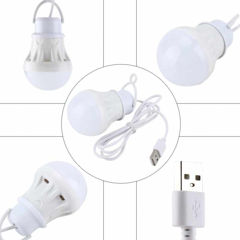 Chiclits חדש USB הנורה אור 3W 5V SMD5730 אנרגיה-חיסכון נמוך-מתח נורות Led חירום נורות סלון (קר לבן)