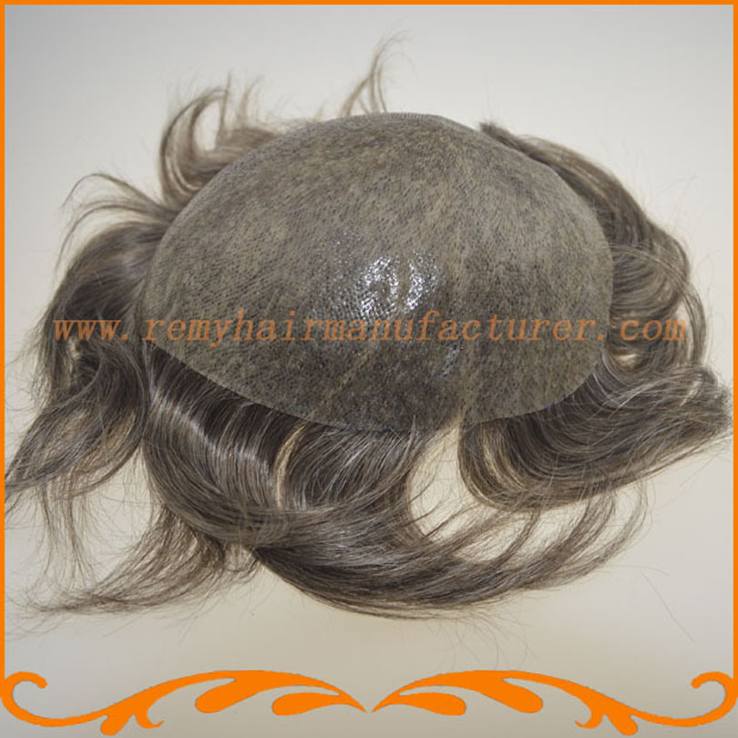 Full Pu Thin Skin Toupee Looks Very Natural Hair System