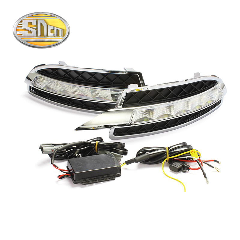 SNCN LED Daytime Running Light For Skoda Octavia A5 2010 - 2012 2013,Car Accessories Waterproof ABS 12V DRL Fog Lamp Decoration
