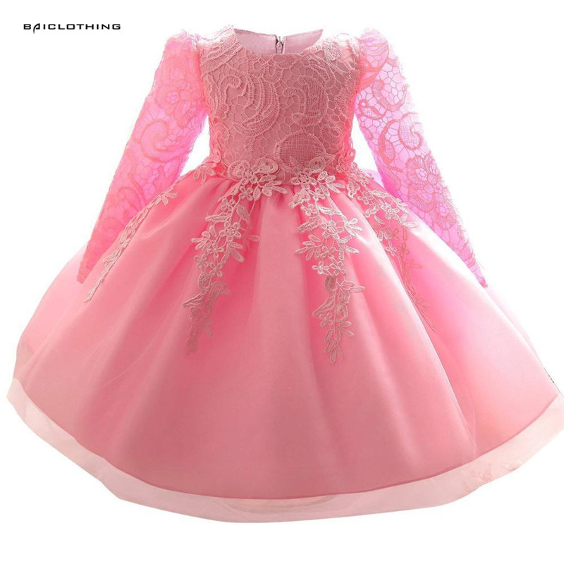 Baby Girl Lace Wedding Dress Clothes Gown Dresses for Girls Princess Dress Children's Clothing Christmas Kids Party Costume dresses for girls wedding dress black dresses birthday kids baby girl clothes princess dress new year party clothing gh333
