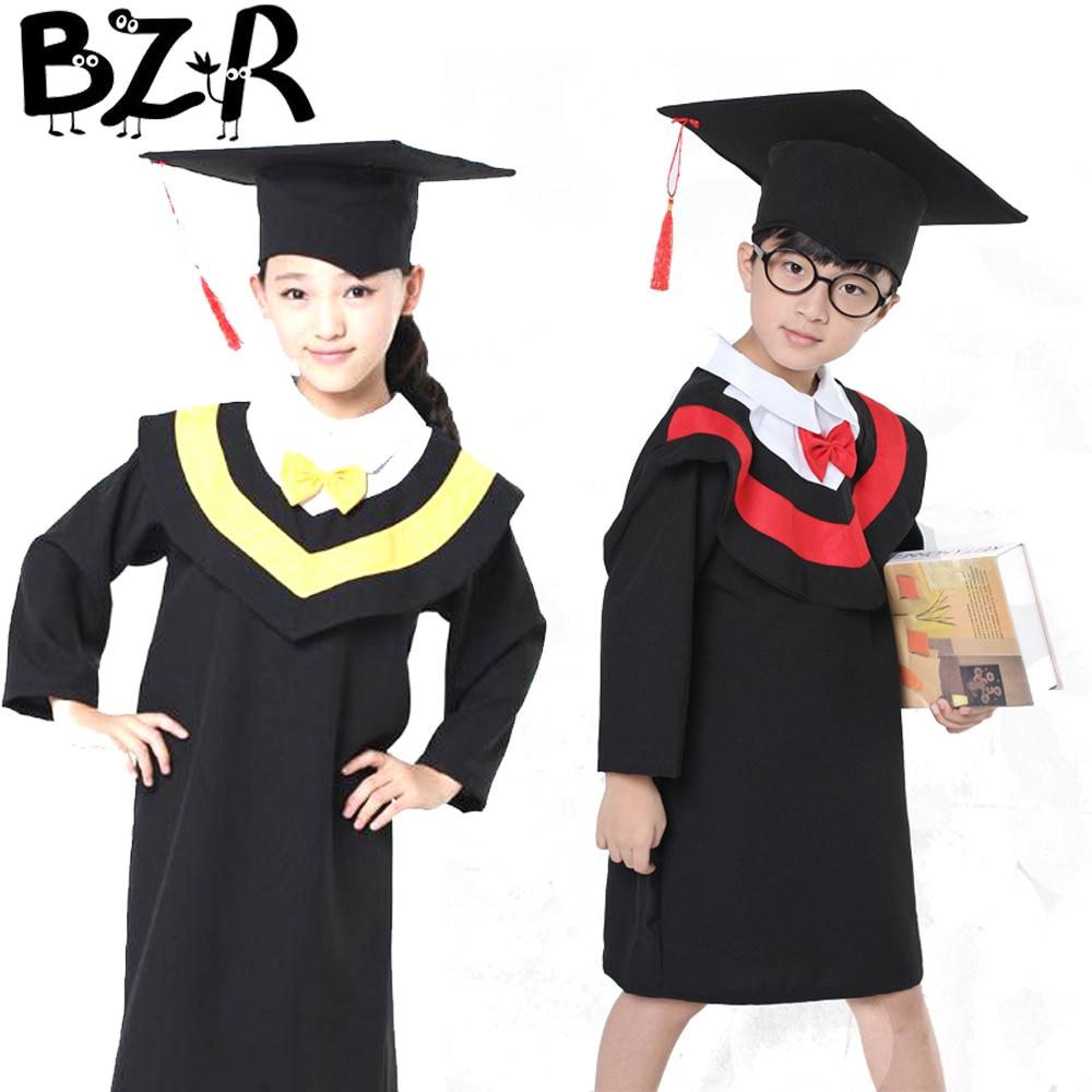 Cap And Gown For Kindergarten - Children s perform academic bachelor gown unisex kindergarten kids dr clothes graduated bachelor costumes dr