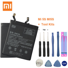 цена XiaoMi Original Replacement Battery BM36 For Xiaomi Mi 5S MI5S 100% New Authentic Phone Battery 3200mAh
