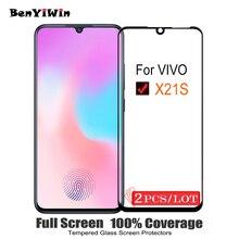 2 PCS 100% Originele Volledige Cover Screen Protector Gehard Glas Voor VIVO X21S 9 H Beschermende Glas Case Voor X21S v1814A V1814T Film