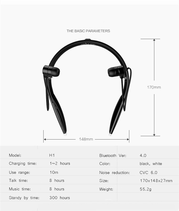 Neckband Bluetooth Sport Stereo Headset Zealots H1 HiFi Headphones With Mic For iPhoneSamsung Handfree Call (21)