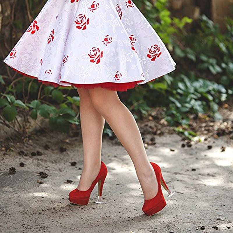 dafe41326 9 Tamanho diferente Alta Heeler Protetor Protetores de Salto Alto Stiletto  Casamento Grama High Heel Shoe Protector Caps Baratos Por Atacado em Kit de  ...
