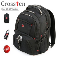New Crossten Swiss Military Army Travel Bags Laptop Backpack 15 6 17 Multifunctional Schoolbag Macbook Bag