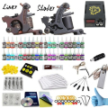 Complete Tattoo Kits 40 Tattoo Inks Set With 1 Liner 1 Shader Tattoo Machine Guns Power Supply Disposable Needle Teaching CD