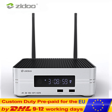 Zidoo Z10 Smart ТВ Box Android 7,1 4 K NAS Media Player 2G DDR 16G eMMC телевидения Декодер каналов кабельного телевидения 10Bit Android top box UHD ТВ коробка