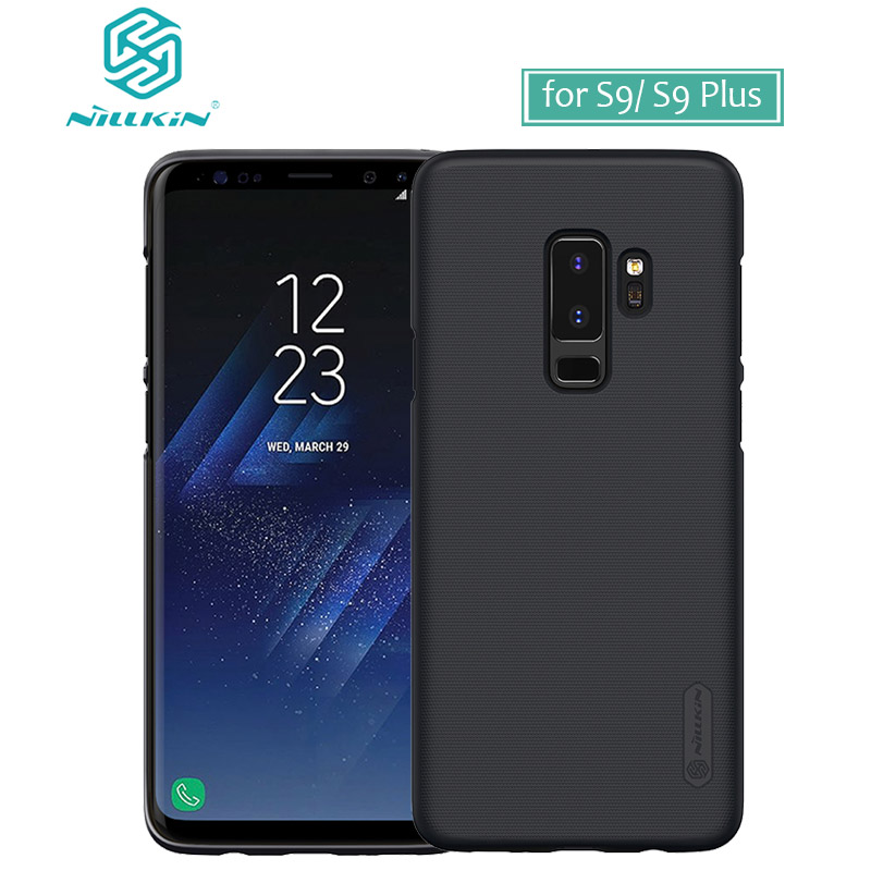 for Samsung Galaxy S9 Plus Case Nillkin Frosted Shield Hard Back PC Cover Case for Samsung S9 Matte Phone Case +Screen Protector