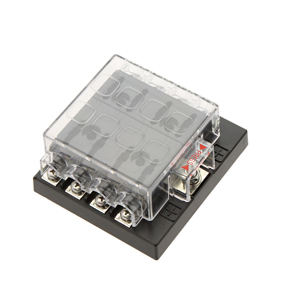 Professional 8 Way Circuit Car Fuse Box 32V DC Blade Car Fuse Box Block 0 25A aliexpress com buy professional 8 way circuit car fuse box 32v dc fuse box at honlapkeszites.co