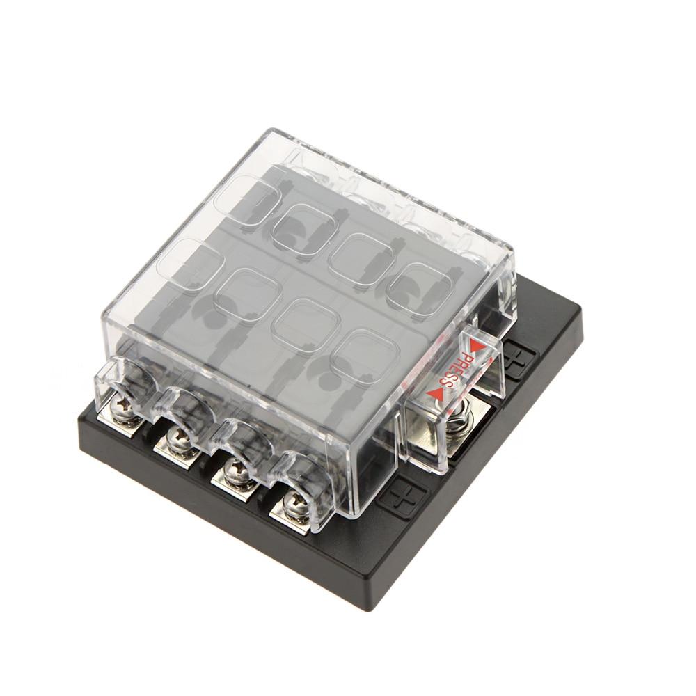 Professional 8 Way Circuit Car Fuse Box 32V DC Blade Car Fuse Box Block 0 25A aliexpress com buy professional 8 way circuit car fuse box 32v dc fuse box at alyssarenee.co
