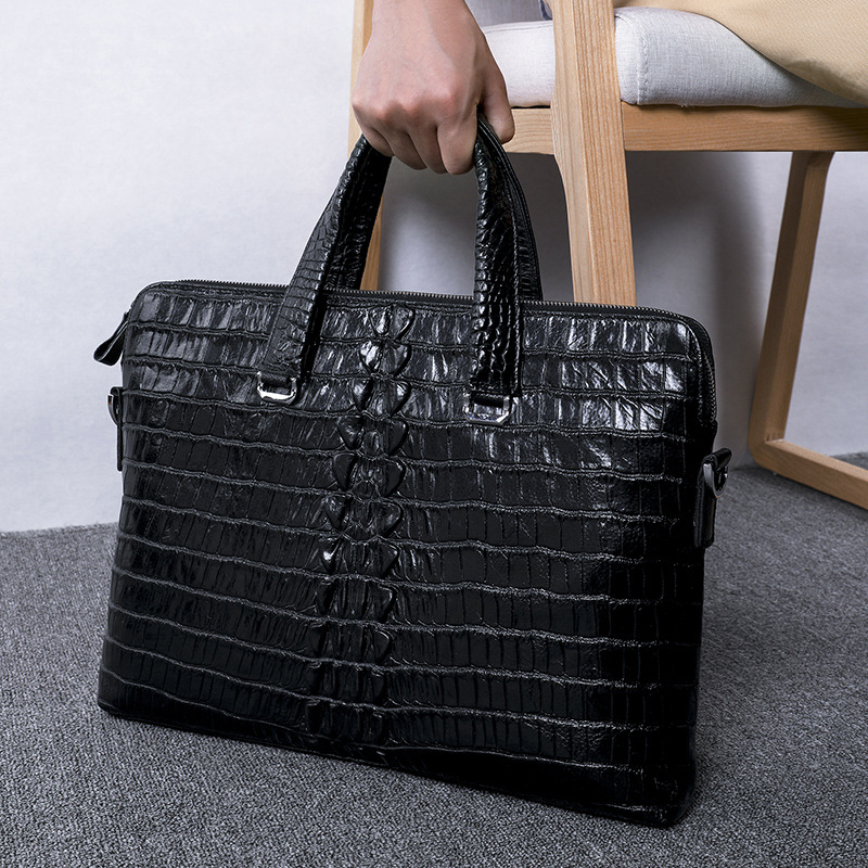 Special Offer Luxury Alligator Pattern Genuine Leather Men Handbag Casual Shoulder Bag Natural Cow Leather Business Briefcase