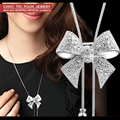 New fashion love Sweater chain Jewelry , long full Zircon Butterfly necklaces & pendants for women N1053