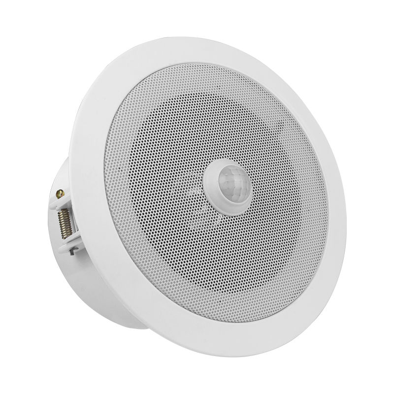 Overhead PIR Motion Sensor Activated Audio Player Ceiling Speaker Built in 10Watts Amplifier Great Sound Output