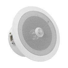 In testa PIR del Sensore di Movimento Attivato Lettore Audio Altoparlante da Soffitto Built In 10 Watt Amplificatore Grande Suono di Uscita