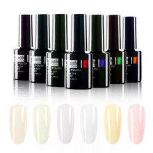 Nueva Llegada 1 unid Soak Off UV LED Blanco Marfil Beige Color Gel Esmalte de Uñas Laca 10 ml