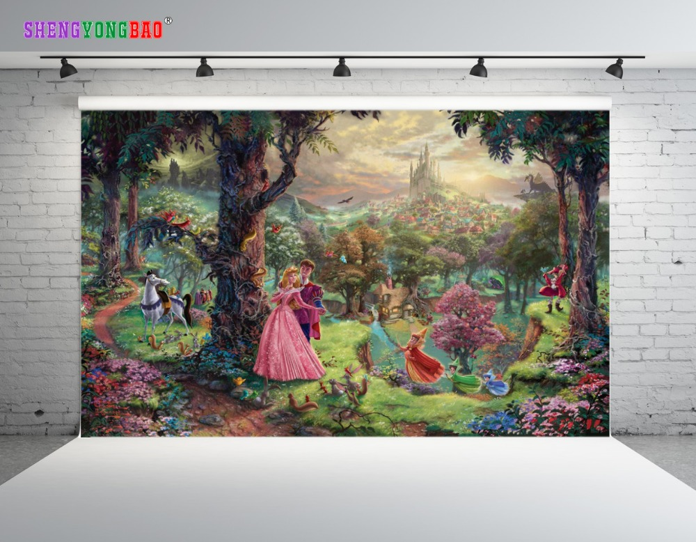 SHENGYONGBAO Vinyl Custom Fairy tale Backdrops for Photography Vinyl Comic Cartoon Photo Studio Background 80510 17 in Background from Consumer Electronics