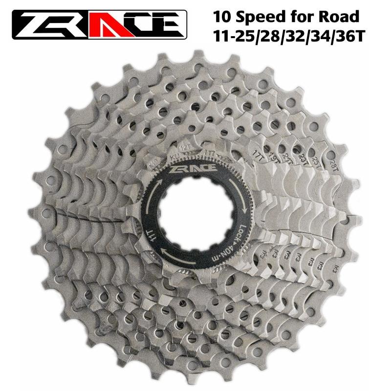 ZRACE Bicycle Cassette 10 Speed Road Bike Freewheel 11-25T / 28T / 32T / 34T / 36T, Compatible with Tiagra ZEE SAINT