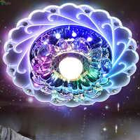 Moderne acrylique Led plafond Lustre éclairage Lustre cristal couloir Led lustres lampe Simple Led lumières luminaire Downlights