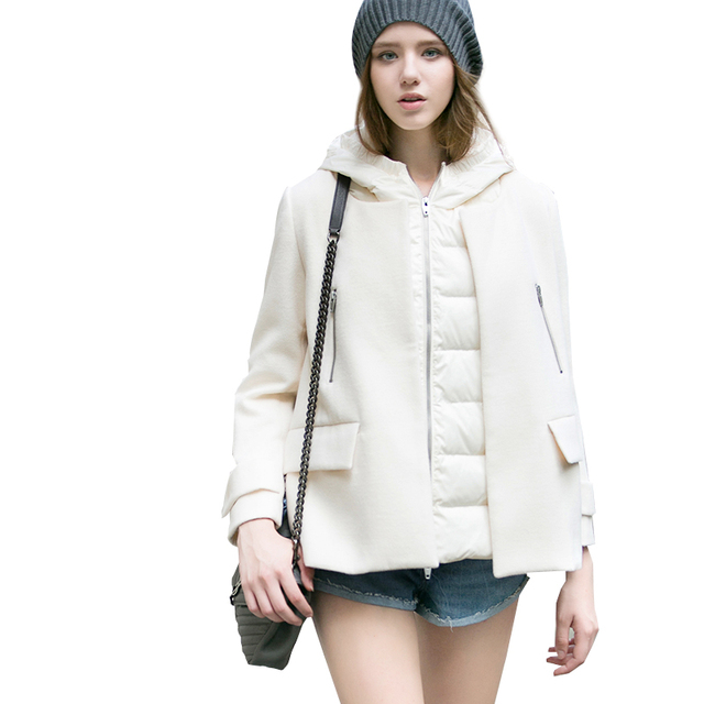 533a1ecb579 2016 women down warm coat jacket parka zipper wool match fashion new winter  outerwear famous band modal plus size thick hooded